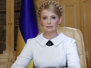 Перед телеобращением к народу Тимошенко перекрестилась и тяжело вздохнула