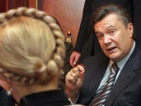 СМИ: Тимошенко и Янукович договариваются о разделе власти после выборов