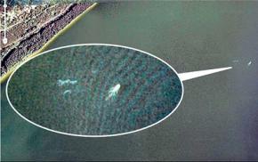 Google Earth зафіксував Лохнеське чудовисько Нессі
