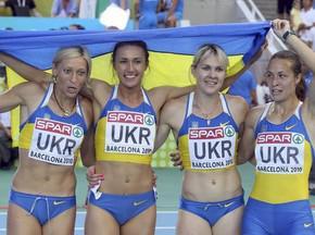 Украинки завоевали золото ЧЕ в эстафете 4х100