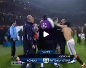 Капитан Милана полез в драку после матча Лиги чемпионов