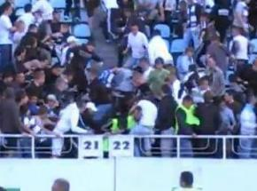 Фаны киевского Динамо избили стюардов на стадионе