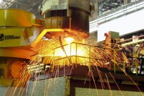 В Украине существенно снизился уровень производства стали