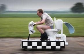 Житель Британии изобрел скоростной унитаз