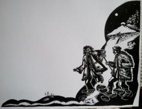 Художница Светлана Фесенко нарисовала мистический мир гуцулов в иллюстрациях к страшным карпатским сказкам