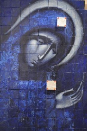 Львівський іконописець представив мозаїку із дерев'яних брусків