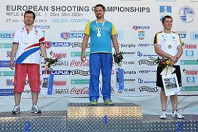 Українець Роман Бондарук став чемпіоном Європи у кульовій стрільбі