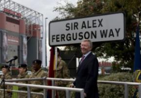В Манчестере появилась улица Алекса Фергюсона