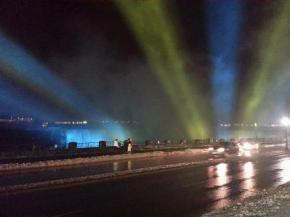 На підтримку Євромайдана Ніагарський водоспад зробили синьо-жовтим