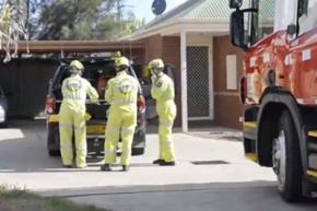 Голый австралиец застрял в стиральной машине