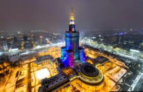 Найвищий будинок Польщі висвітлять кольорами українського прапора