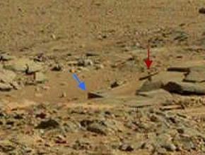 На Марсе обнаружен объект, сильно похожий на могилу с крестом