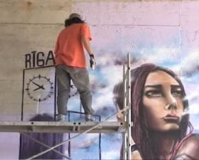 Міжнародний фестиваль графіті пройшов в Ризі