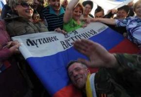 Террористы расстреляли луганчан, попытавшихся помешать установке