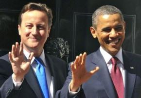 Обама и Кемерон пообещали защитить Украину от России