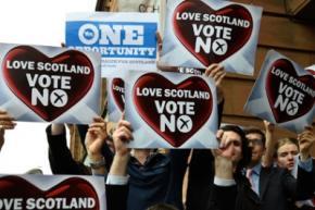 В Шотландии состоялся референдум по вопросу о независимости, более 60% шотландцев проголосовали против выхода из состава Соединенного Королевства
