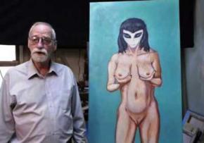 70-річний художник намалював інопланетянку, яка позбавила його цноти
