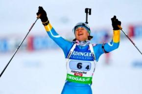 На Кубке мира по биатлону украинка Валентина Семеренко завоевала бронзу