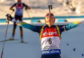 Валя Семеренко - чемпионка мира по биатлону 2015