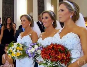 Сестри-трійнята з Бразилії вийшли заміж в один день