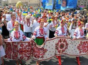 В Украине сегодня проводится День вышиванки