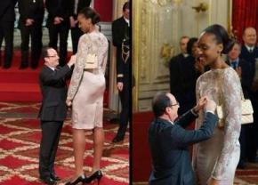 Фото президента Франции с баскетболисткой взорвало Интернет